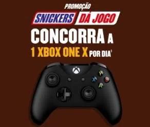 Cadastrar Promoção Snickers XBox One X Por Dia - Twix, M&Ms, Skittles