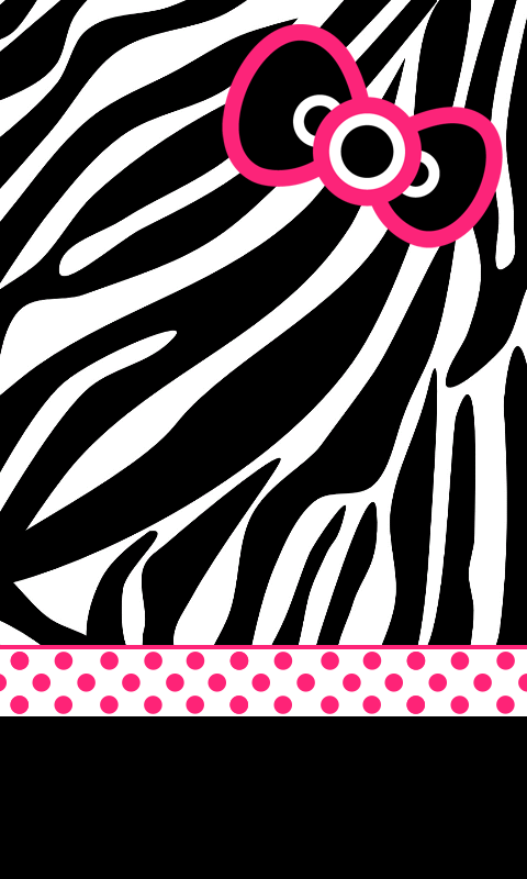 Hello kitty animal print zebra imagui - Pink zebra wallpaper for iphone ...