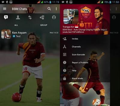 BBM Mod Totti v3.3.1.24 APK (BBM AS Roma)