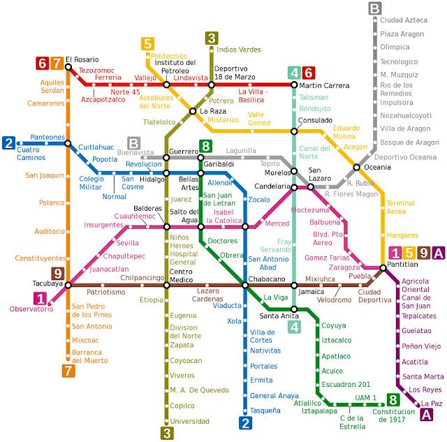 Mapa do Metrô da Cidade do México