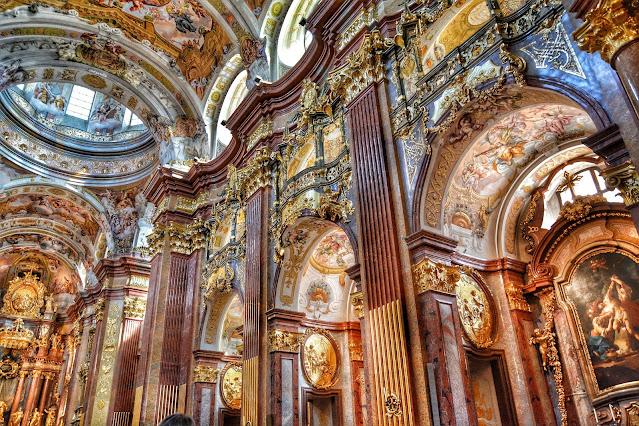 Chiesa barocca abazia Melk