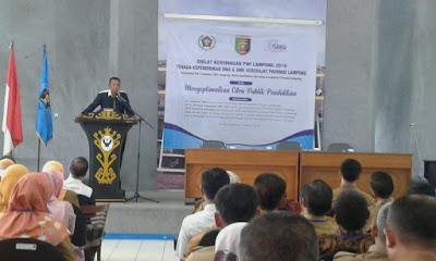 Kadis Pendidikan Provinsi Lampung Buka Diklat Kehumasan Bagi Tenaga Kependidikan