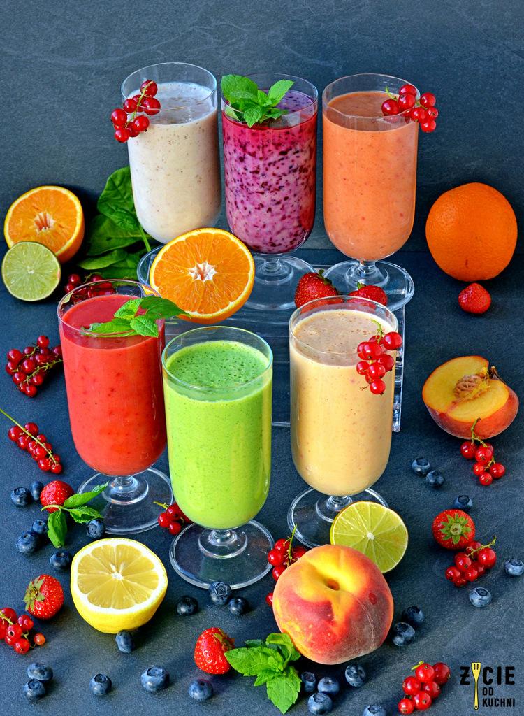 koktajle owocowe, kolorowe koktajle, smoothie, owocowe koktajle, owocowe smothie,