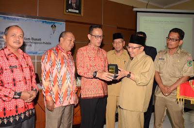Bupati Terima Rombongan Studi Banding Pemerintah Provinsi Kalbar