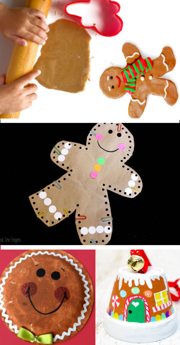 Gingerbread man crafts and activities for kids including a recipe for gingerbread paint. #gingerbread #gingerbreadmancrafts #gingerbreadpainting #gingerbreadpaint #christmascraftsforkids #growingajeweledrose #activitiesforkids