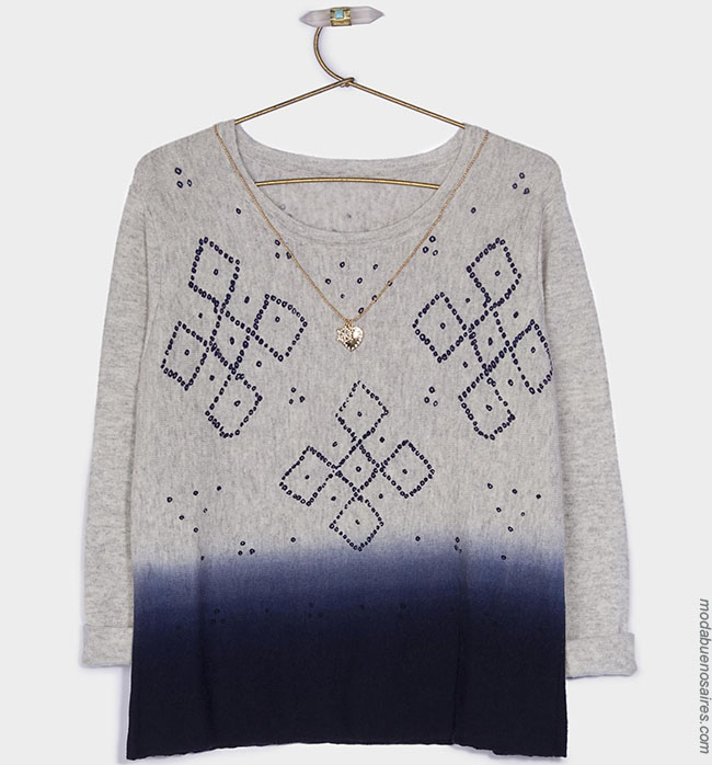 Sweaters invierno 2018 ropa de moda mujer. Moda otoño invierno 2018.