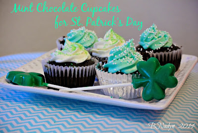 St.Patrick's Day Mint Chocolate Cupcakes