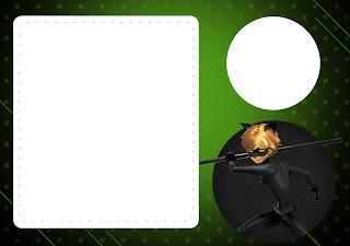 Para hacer invitaciones, tarjetas, marcos de fotos o etiquetas, para imprimir gratis de Cat Noir.