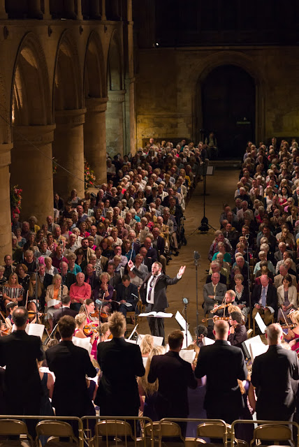 Marcus Farnsworth conducts Festival Voices and Festival Sinfonia at Southwell Music Festival  (photo Nick Rutter)