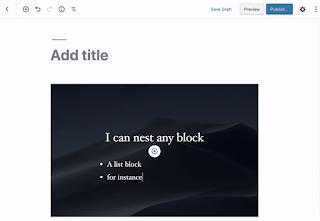Características y mejoras del editor de bloques
