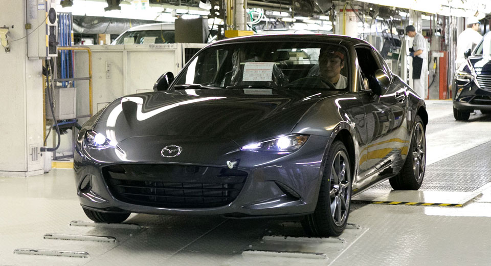 Mazda Mx 5 Rf Starts Production In Japan