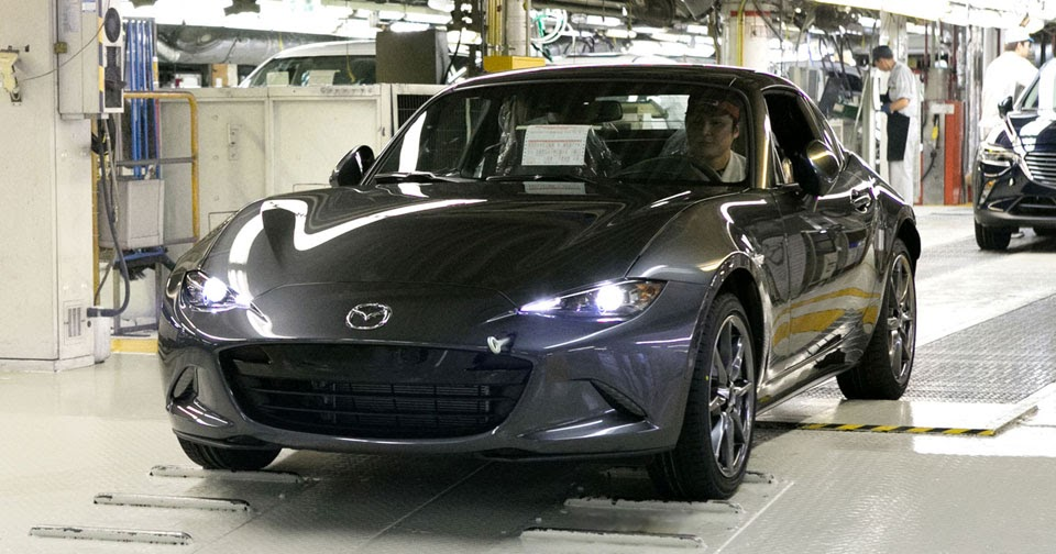 Mazda Mx 5 Rf Starts Production In Japan