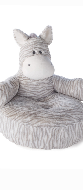 Nat & Jules Zebra Plush Baby Chair grey