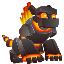 Appearance of Rockfire Dragon when teenager