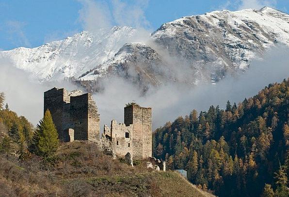 tschanüff castle valsot switzerland
