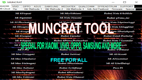 Muncrat Tool Special For Xiaomi, VIVO, OPPO, Samsung and More