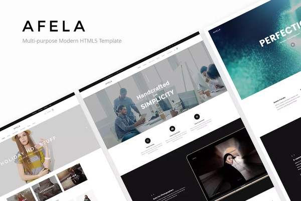 Afela Flexible Multi Purpose HTML5 Templates
