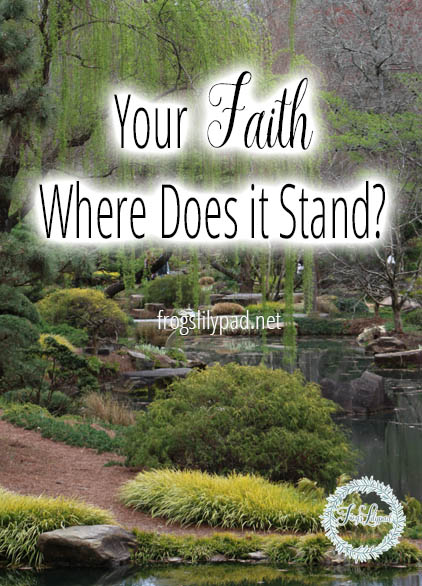 Your Faith: Where Does It Stand?