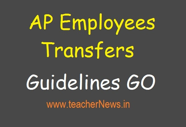 AP Employees Transfers Guidelines GO 45 | 2019 Transfers Rules For Teachers