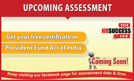Grab your free HR Certificate on Provident Fund Act in India now!!