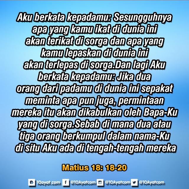 Matius 18: 18-20