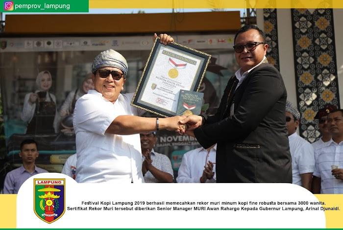Gubernur Arinal Ucapkan Terima Kasih atas Kesuksesan Festival Kopi Lampung 2019, dalam 4 Hari Nilai Transaksi Capai Rp10 Miliar