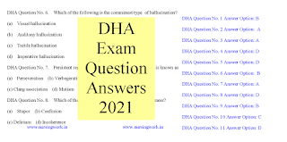 DHA Exam Question Answers 2021