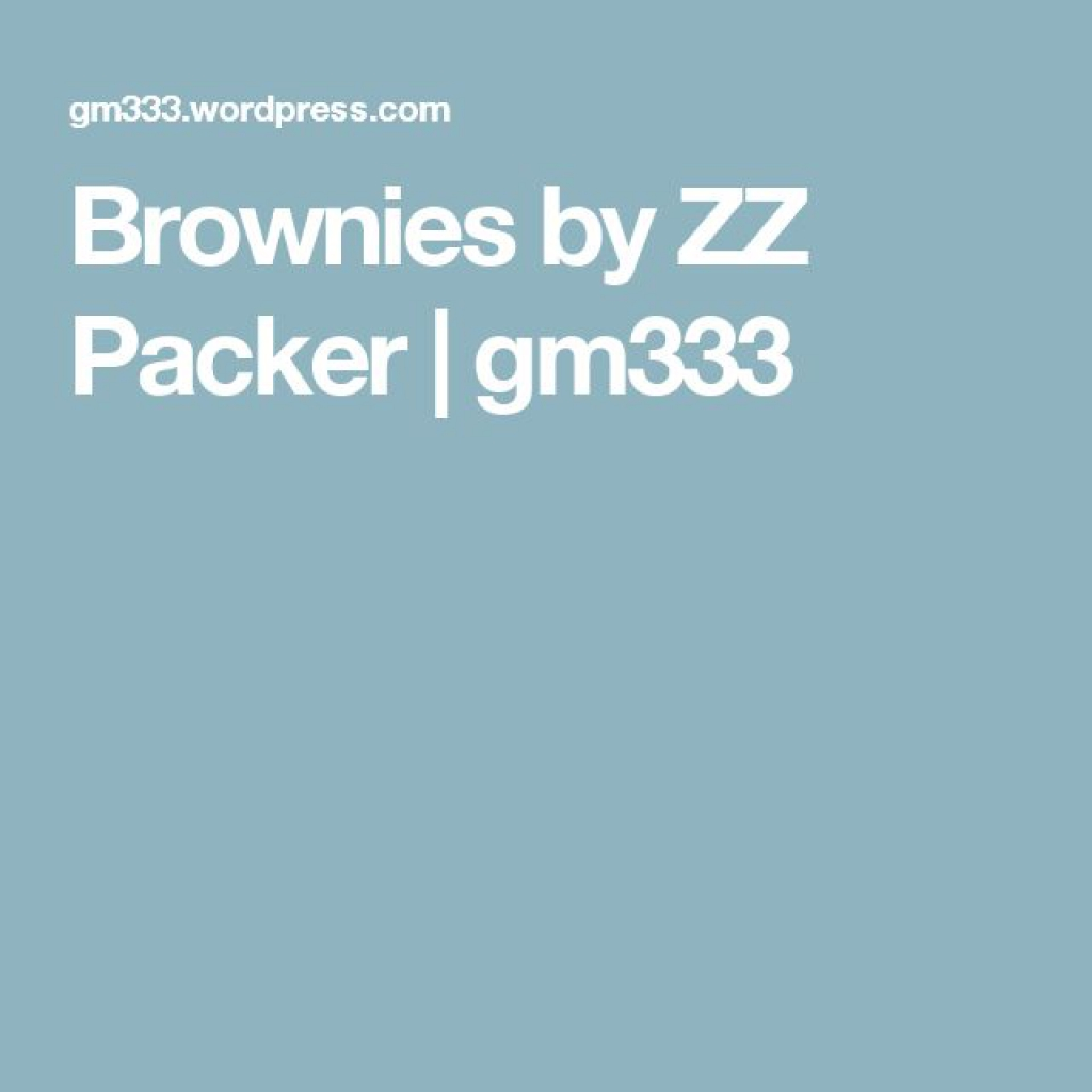 brownies zz packer character analysis