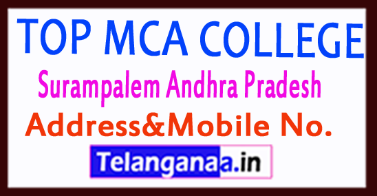 Top MCA Colleges in Surampalem Andhra Pradesh