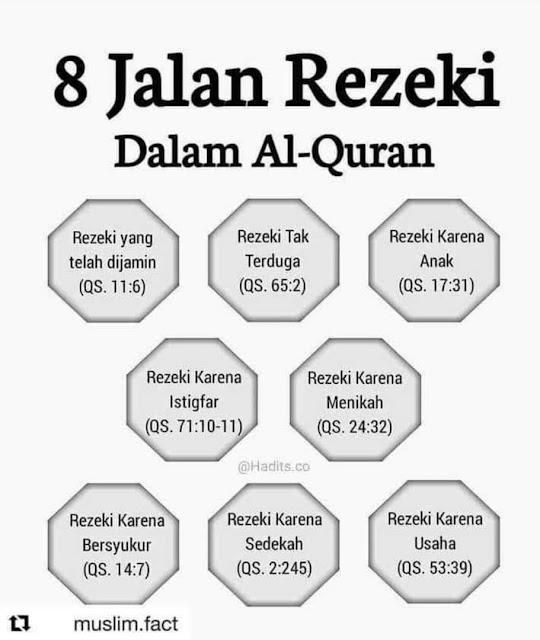 8 JALAN REZEKI DALAM AL-QURAN