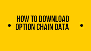 How to download option chain data from NSE
