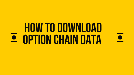 How to download option chain data from NSE?
