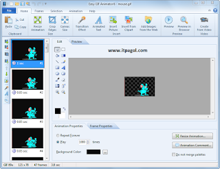 Easy GIF Animator Pro 6.1 Dashboard.
