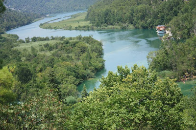 Krka River in Croatia