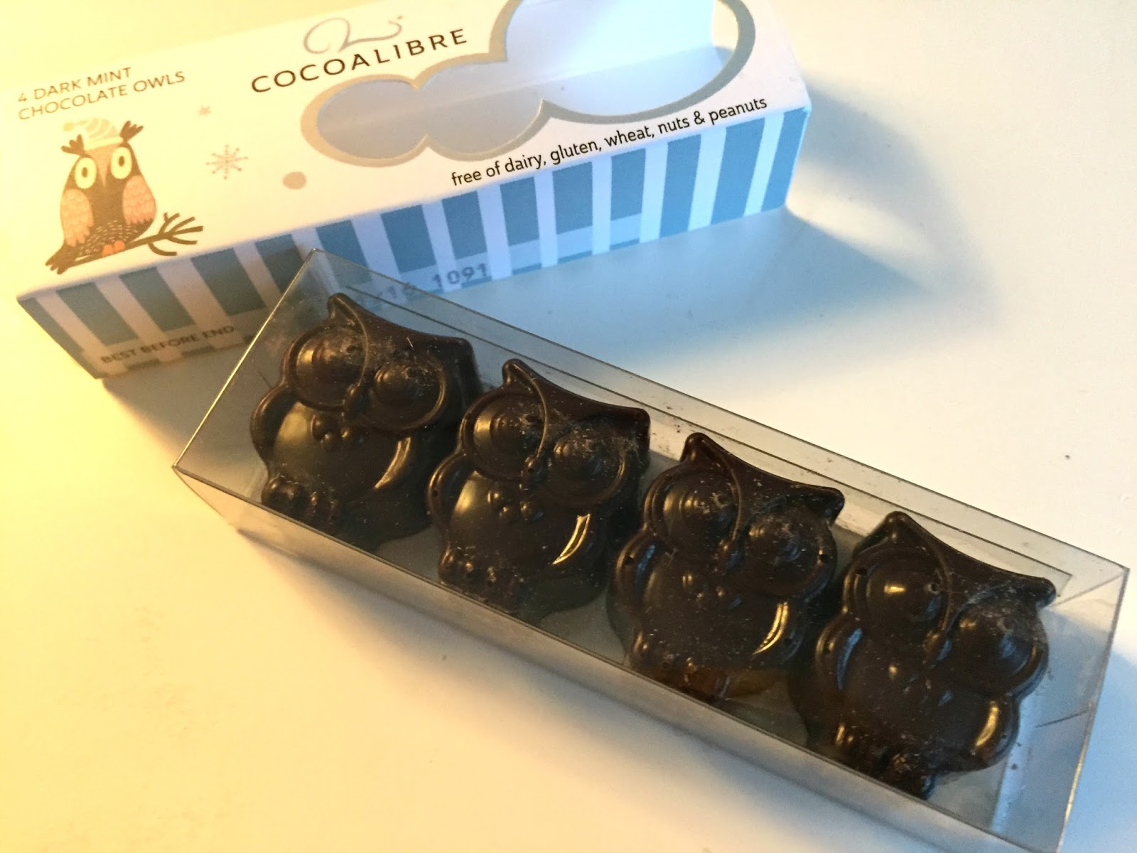 Cocoalibre Dark Mint Chocolate Owls