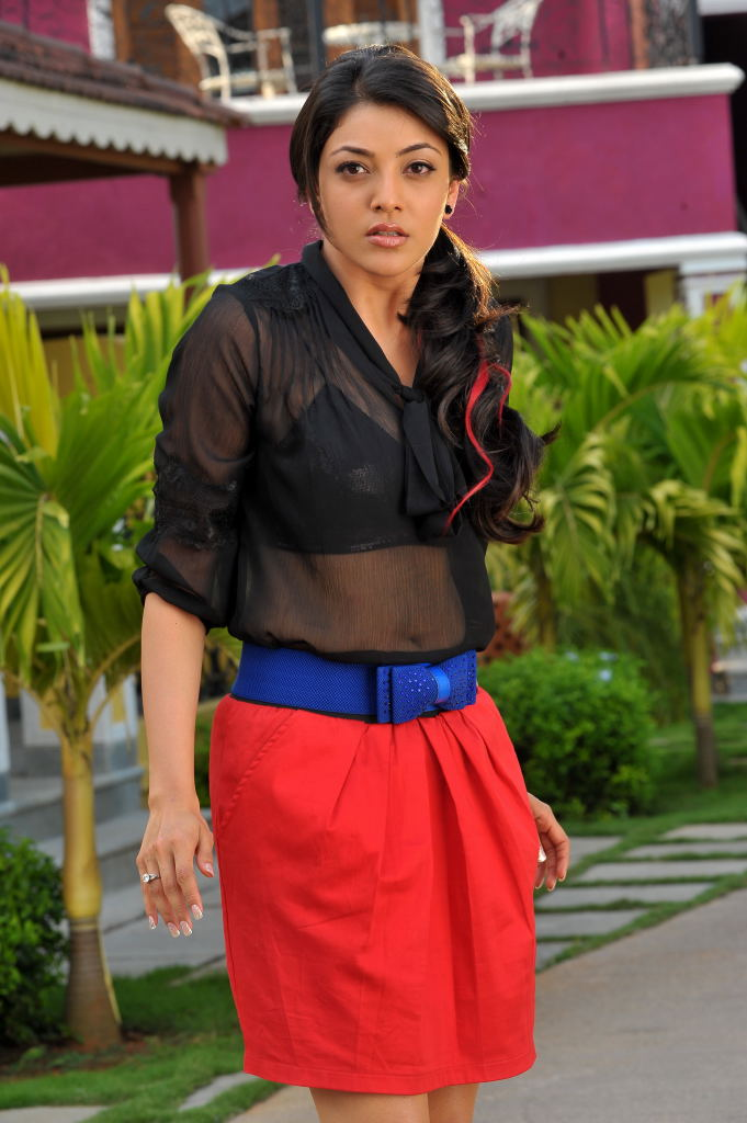 exquisite charming Kajal in black tops