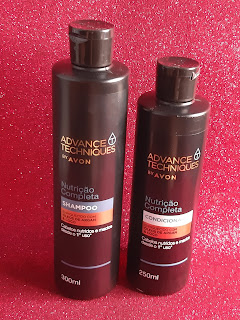 Shampoo e condicionador Nutrição Completa Advance Techniques Avon resenha dicas da tia