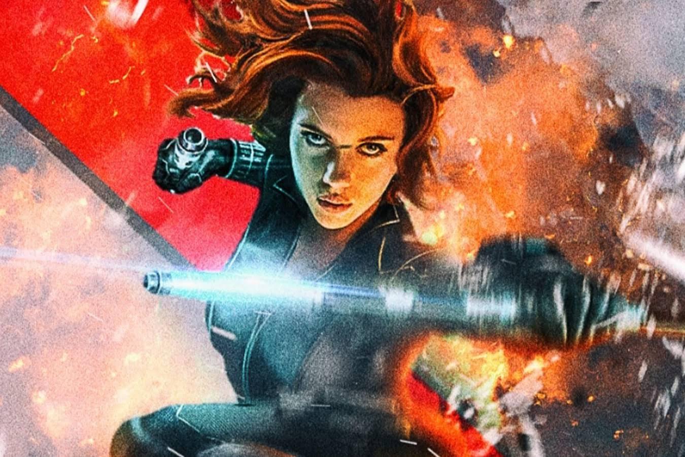 Black Widow : 全米公開は早くても、7月頃か ? ! の期待が寄せられるマーベルのスピンオフ映画「ブラック・ウィドウ」のスカーレット・ジョハンソンを描いたクールなファンメイドのポスター ! !