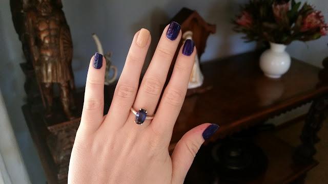 rimmel 60 second nail polish 830 royal so and so 513 let's get nude iolite ring