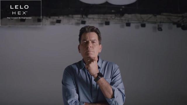 Charlie Sheen embajador de los condones LELO HEX