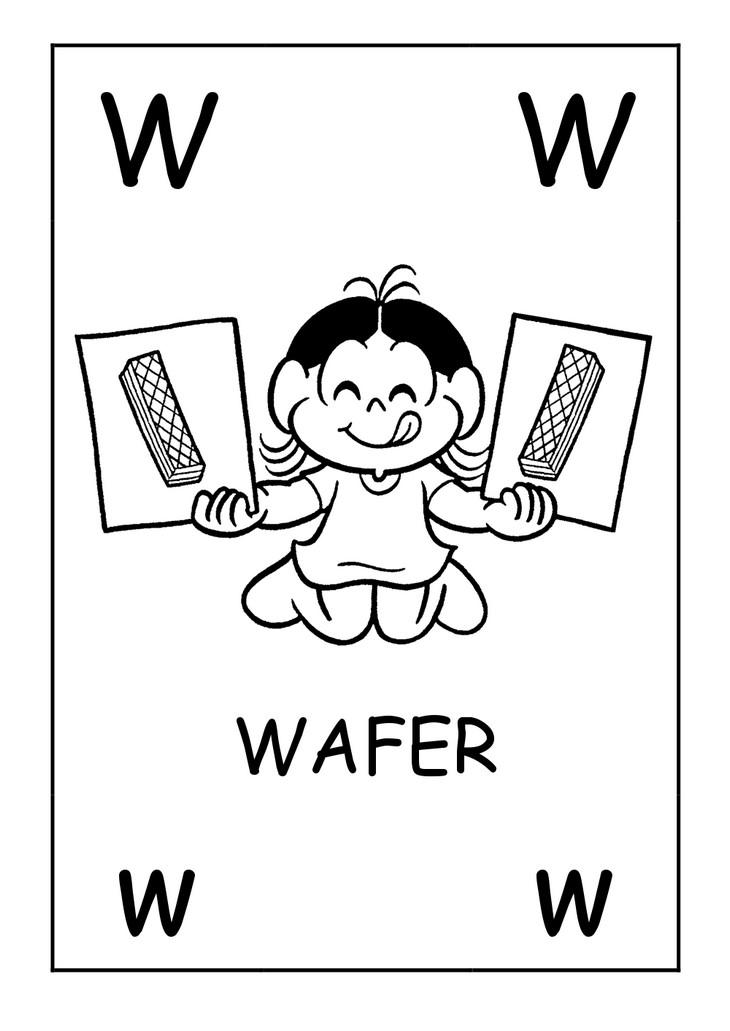 Colorir Desenho Alfabeto Com K W Y