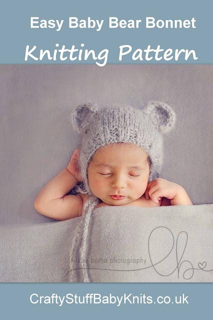 knitting pattern for a newborn baby bear ears bonnet photography prop