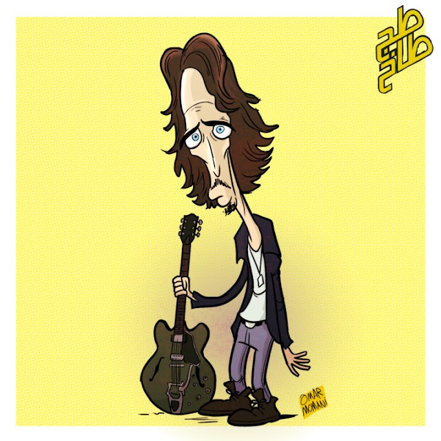 Chris Cornell cartoon
