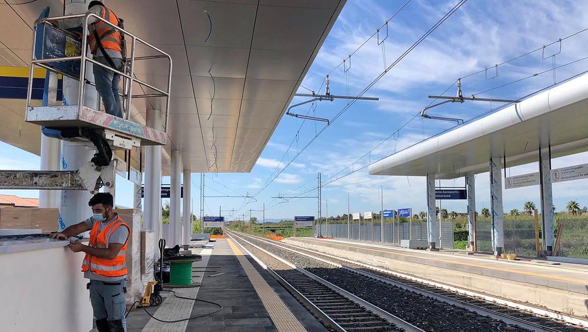 Cantiere per ferrovia a Fontanarossa