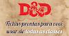 Personagens pré-feitos de todas as classes de para sua campanha de D&D 5.0 (excelente para NPCs)