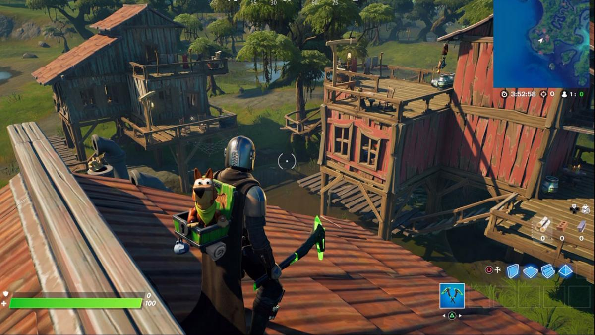 Where to visit houses in Sticky Swamp in a game in Fortnite season 5 - locations