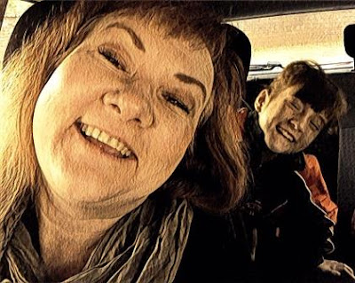 Prisma filter of Mom and daughter selfie
