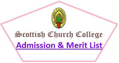 Scottish Church College Merit List