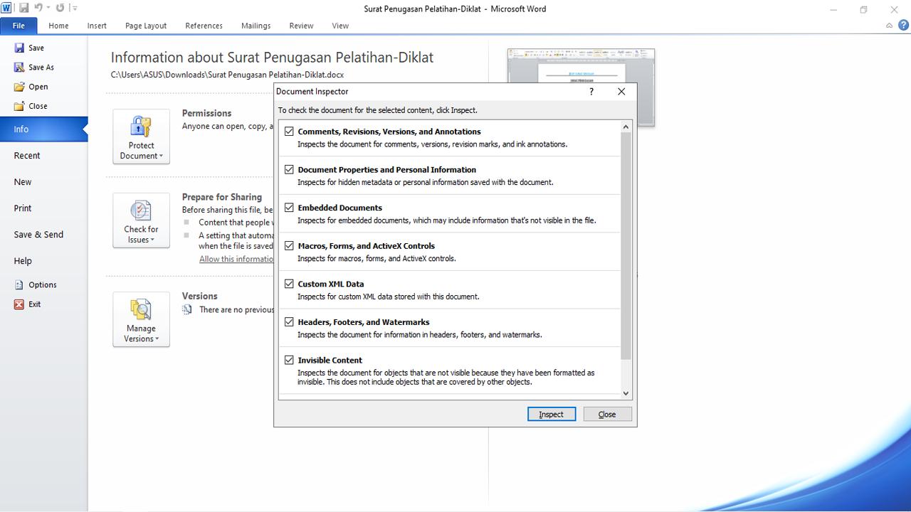 Hapus Metadata di File Microsoft Office Segera