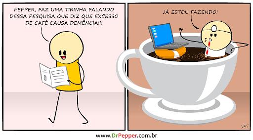 Excesso de café causa demência